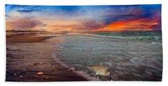 Sandpiper Sunrise Beach Sheet by Betsy Knapp