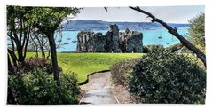 Sandsfoot Castle Weymouth Uk Beach Towel
