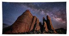 Sandstone And Milky Way Beach Towel