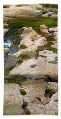 Beach Towel featuring the photograph Sandstone Creek Bed by Sharon Talson
