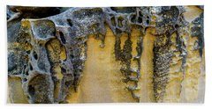 Beach Towel featuring the photograph Sandstone Detail Syd01 by Werner Padarin