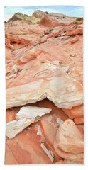 Beach Towel featuring the photograph Sandstone Heart In Valley Of Fire by Ray Mathis