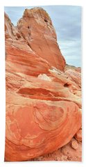 Beach Towel featuring the photograph Sandstone Pillar In Valley Of Fire by Ray Mathis