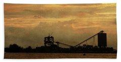 Sandusky Coal Dock Sunset Beach Sheet by Shawna Rowe
