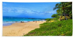 Beach Towel featuring the photograph Sandy Beaches Of Maui by Michael Rucker