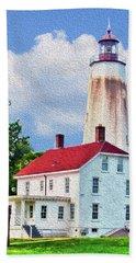Sandy Hook Light House Beach Towel