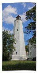 Sandy Hook Lighthouse Tower Beach Towel