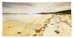 Sandy Tasmanian Shores Beach Towel