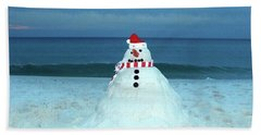 Sandy The Snowman Beach Towel