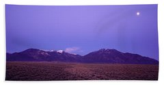 Sangre De Cristo Mountains At Sunset Beach Towel
