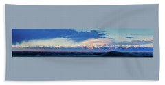 Sangre De Cristo Mountains Of Colorado Panorama Beach Towel