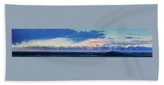 Sangre De Cristo Mountains Of Colorado Panorama Beach Sheet
