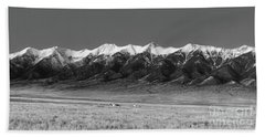 Sangre De Cristos  Dusk In Black And White Beach Towel