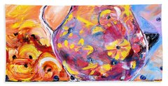 Beach Towel featuring the painting Sangria  by Evelina Popilian