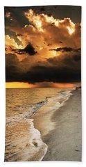 Beach Sheet featuring the photograph Sanibel Island Rain by Greg Mimbs