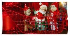 Santa And His Elves Beach Sheet