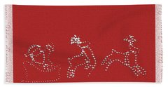 Beach Towel featuring the photograph Santa And His Team by Ellen O'Reilly