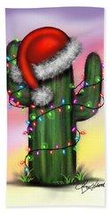 Santa Cactus Beach Sheet