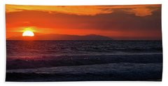 Beach Towel featuring the photograph Santa Catalina Island Sunset by Kyle Hanson