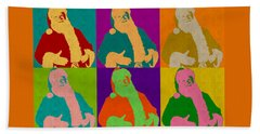 Santa Claus Andy Warhol Style Beach Sheet