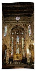 Beach Towel featuring the photograph Santa Croce Florence Italy by Joan Carroll