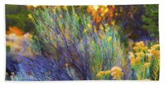 Beach Towel featuring the photograph Santa Fe Beauty by Stephen Anderson