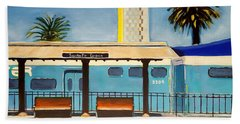 Santa Fe Depot Beach Sheet by Karyn Robinson