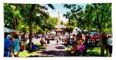 Santa Fe New Mexico Beach Sheet by Joseph Frank Baraba