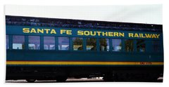 Santa Fe Train Beach Towel by Joseph Frank Baraba