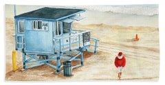 Santa Is On The Beach Beach Sheet