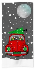 Santa Lane Beach Sheet by Kathleen Sartoris