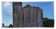 Santa Maria Do Carmo Church In Lourinha. Portugal Beach Towel