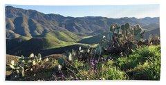 Santa Monica Mountains - Cactus Hillside View Beach Towel
