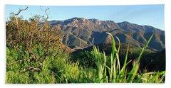Santa Monica Mountains Green Landscape Beach Towel
