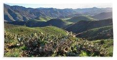 Beach Sheet featuring the photograph Santa Monica Mountains - Hills And Cactus by Matt Harang