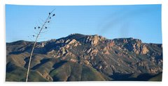 Beach Sheet featuring the photograph Santa Monica Mountains View  by Matt Harang
