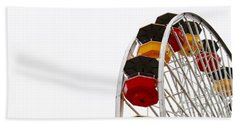 Santa Monica Pier Ferris Wheel- By Linda Woods Beach Towel by Linda Woods
