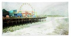Santa Monica Pier Beach Sheet
