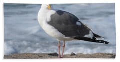 Santa Monica Seagull Beach Towel