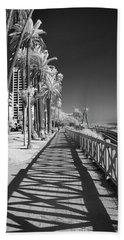 Santa Monica Shadows And Palms Beach Towel