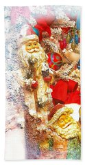 Santa Scene 1 Beach Towel