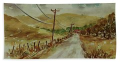 Beach Sheet featuring the painting Santa Teresa County Park California Landscape 1 by Xueling Zou