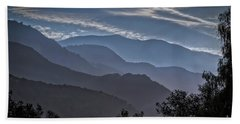 Santa Ynez Mountains Beach Towel