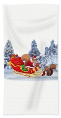 Santa's Little Helper Beach Sheet by Glenn Holbrook