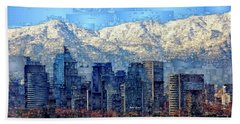 Santiago De Chile, Chile Beach Towel