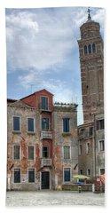 Santo Stefano Venice Leaning Tower Beach Towel