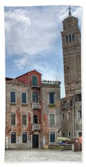 Santo Stefano Venice Leaning Tower Beach Sheet
