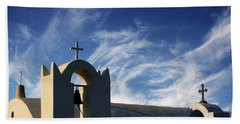Santorini Greece Architectual Line 3 Beach Sheet by Bob Christopher
