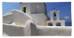 Beach Sheet featuring the photograph Santorini Greece Architectual Line 4 by Bob Christopher