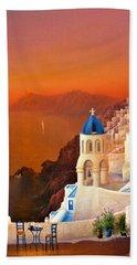 Santorini Sunset Beach Towel